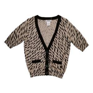 Sonia by Sonia Rykiel Cardigan Sweater  Black Tan